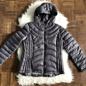 Andrew Marc Large Gray Packable Down Puffer Jacket